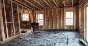 removal old insulation