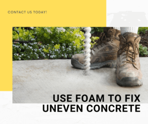 fix uneven concrete